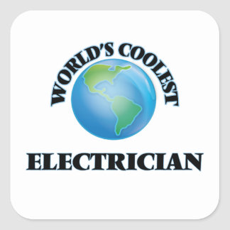 wORLD'S COOLEST eLECTRICIAN Square Sticker
