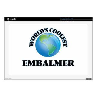 "wORLD'S COOLEST eMBALMER 17"" Laptop Decals"