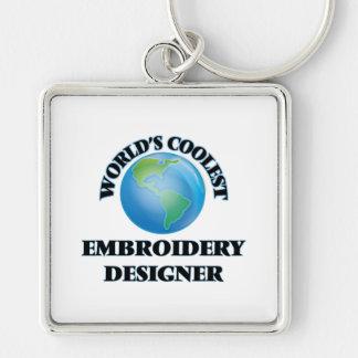 wORLD'S COOLEST eMBROIDERY dESIGNER Keychains