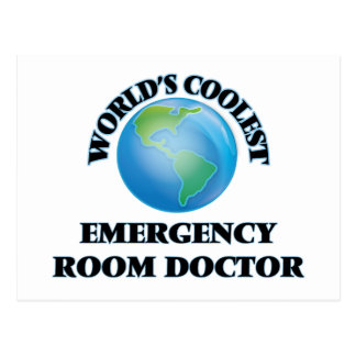 wORLD'S COOLEST eMERGENCY rOOM dOCTOR Postcard