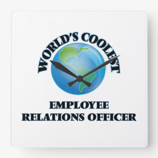 wORLD'S COOLEST eMPLOYEE rELATIONS oFFICER Wall Clock