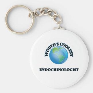 wORLD'S COOLEST eNDOCRINOLOGIST Basic Round Button Keychain