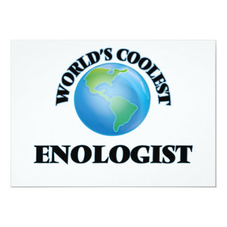 World's coolest Enologist 5x7 Paper Invitation Card
