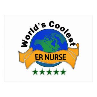 World's Coolest ER Nurse Postcard