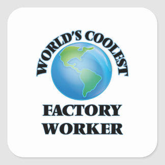 World's coolest Factory Worker Stickers