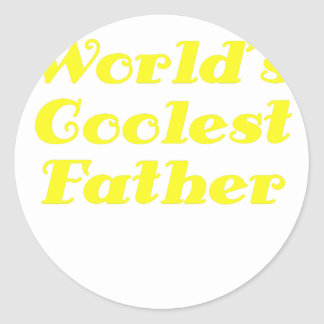 Worlds Coolest Father Classic Round Sticker