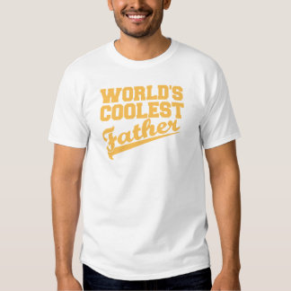 World's Coolest Father (yellow) T Shirt