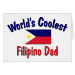 World's Coolest Filipino Dad Greeting Cards