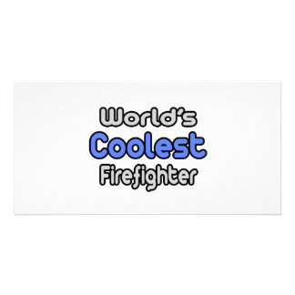 World's Coolest Firefighter Photo Greeting Card
