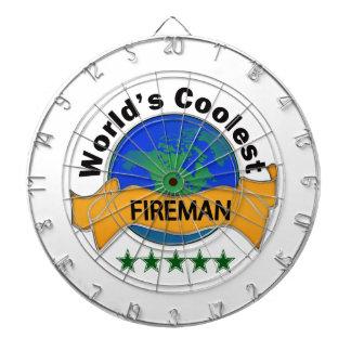 World's Coolest Fireman Dart Board