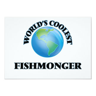 World's coolest Fishmonger 5x7 Paper Invitation Card