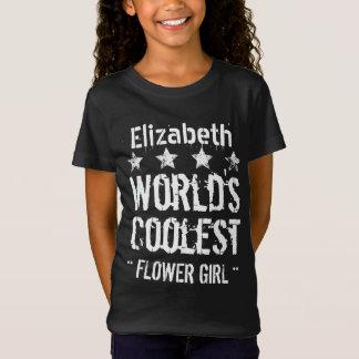 World's Coolest FLOWER GIRL Grunge Stars V09D T-Shirt