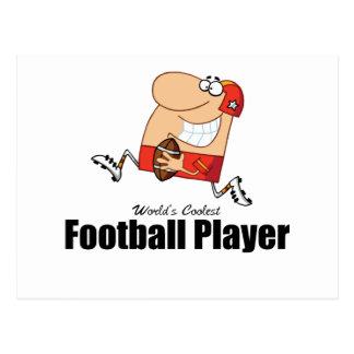 World's Coolest Football Player Postcard