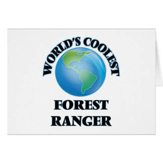 World's coolest Forest Ranger Greeting Card