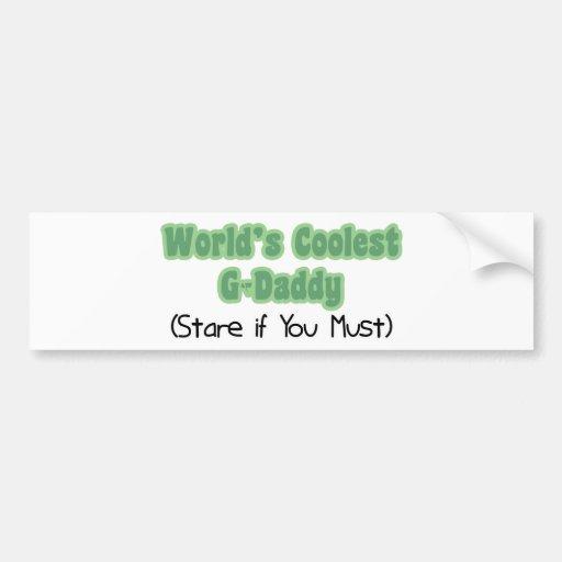 World's Coolest G-Daddy Bumper Stickers