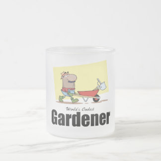 World's Coolest Gardener Frosted Glass Coffee Mug