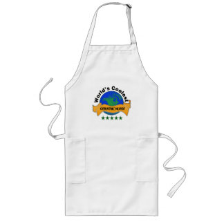 World's Coolest Geriatric Nurse Long Apron