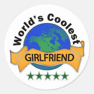 World's Coolest Girlfriend Classic Round Sticker