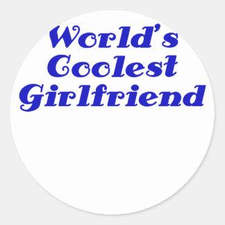 Worlds Coolest Girlfriend Classic Round Sticker