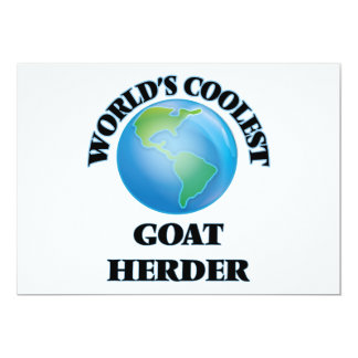 World's coolest Goat Herder Personalized Invitations