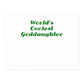 Worlds Coolest Goddaughter Postcard