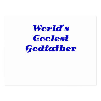 Worlds Coolest Godfather Post Cards