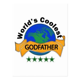 World's Coolest Godfather Postcard