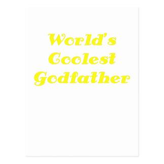 Worlds Coolest Godfather Postcard