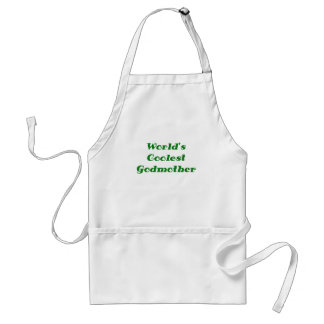 Worlds Coolest Godmother Adult Apron