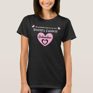 World's COOLEST Godmother PINK Heart V21 T-Shirt