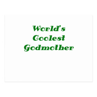 Worlds Coolest Godmother Postcard
