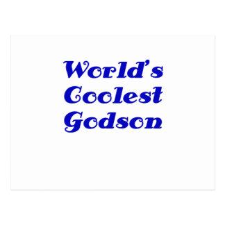 Worlds Coolest Godson Postcard