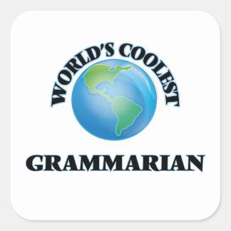 World's coolest Grammarian Square Sticker