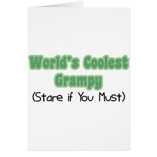 World's Coolest Grampy Card