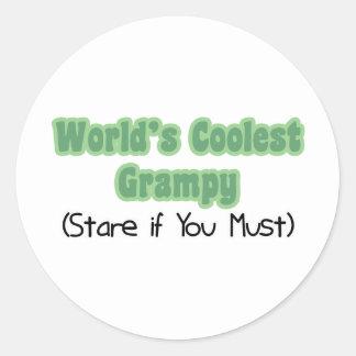 World's Coolest Grampy Classic Round Sticker