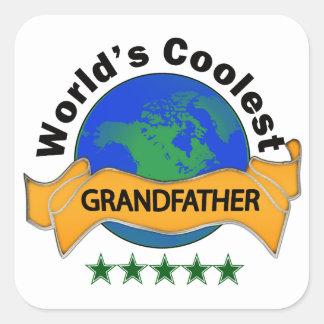 World's Coolest Grandfather Square Sticker