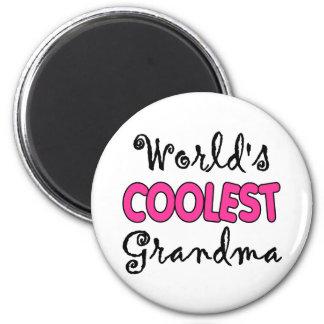 World's Coolest Grandma 2 Inch Round Magnet