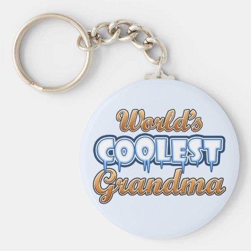 World's Coolest Grandma Basic Round Button Keychain
