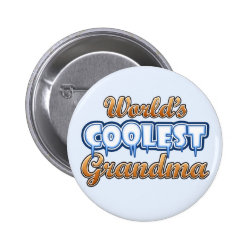 Round Button with World's Coolest Grandma design