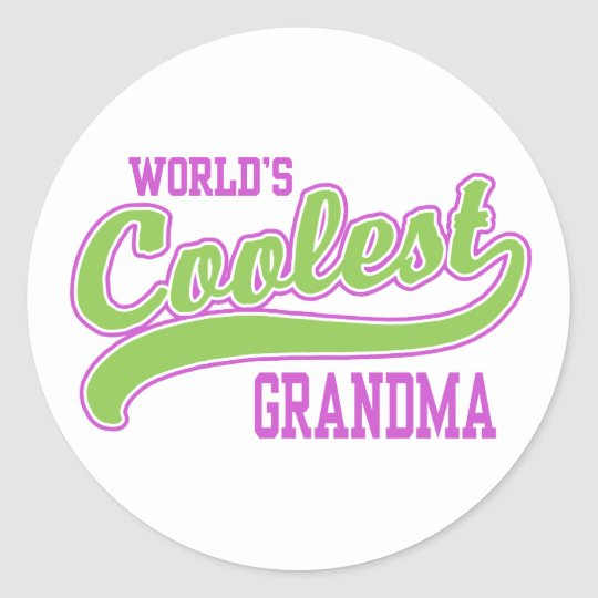 World's Coolest Grandma Classic Round Sticker