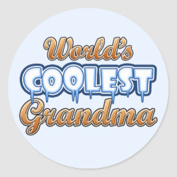 Round Sticker with World's Coolest Grandma design