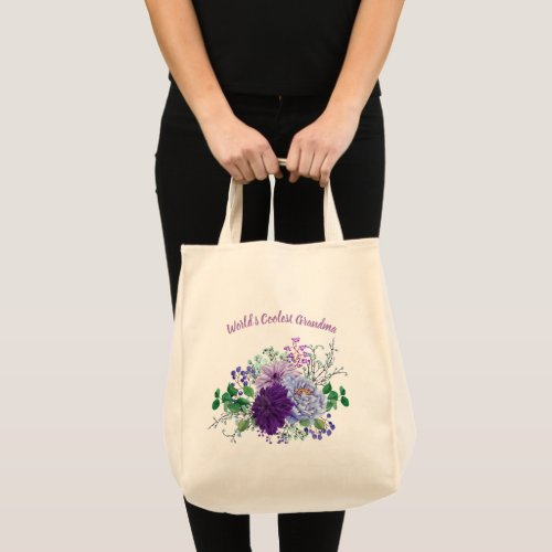 Worlds Coolest Grandma Gifts Grandmother Customize Tote Bag
