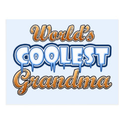 Postcard with World's Coolest Grandma design