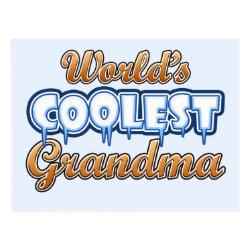 Postcard with World's Coolest Grandma design