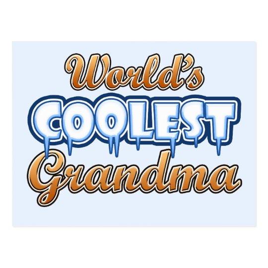 World's Coolest Grandma Postcard