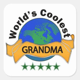 World's Coolest Grandma Square Sticker