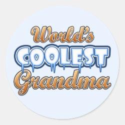 Round Sticker with World's Coolest Grandma design