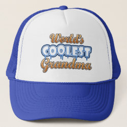 Trucker Hat with World's Coolest Grandma design