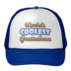 Trucker Hat with World's Coolest Grandma design