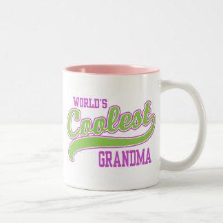 World's Coolest Grandma Two-Tone Coffee Mug
